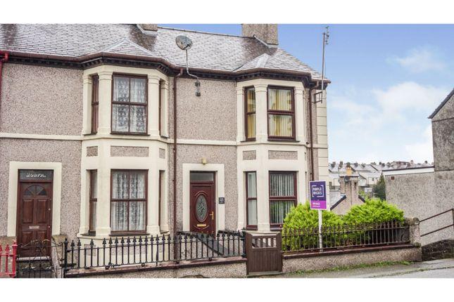 Thumbnail End terrace house for sale in Clarke Terrace, Caernarfon