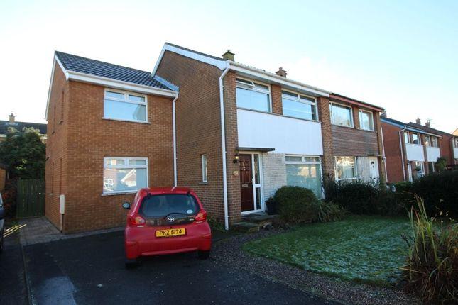 Thumbnail Semi-detached house for sale in Cranley Drive, Bangor