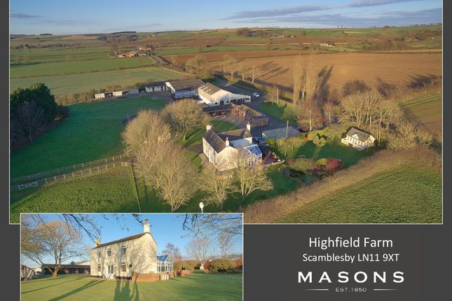 Thumbnail Farmhouse for sale in Ings Lane, Scamblesby, Louth