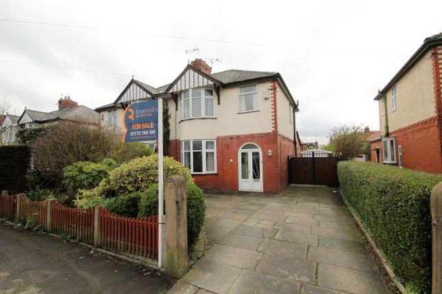 Thumbnail Semi-detached house for sale in Crookings Lane, Penwortham, Preston