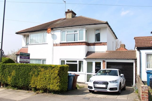 Thumbnail Semi-detached house to rent in Sefton Avenue, Harrow