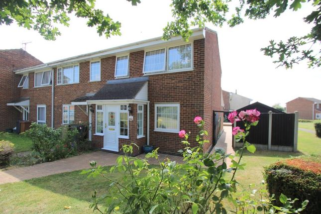 Thumbnail End terrace house for sale in Rich Close, Great Leighs, Chelmsford