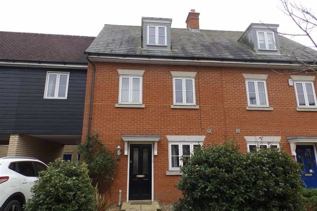 Thumbnail Town house to rent in Demoiselle Crescent, Ipswich