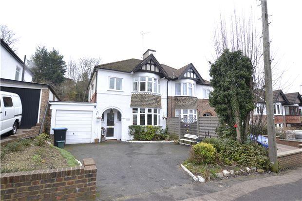 Thumbnail Semi-detached house for sale in Hillbury Road, Warlingham, Surrey