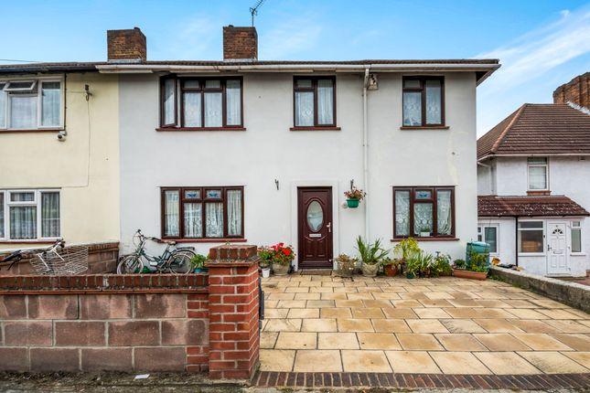 Thumbnail Semi-detached house for sale in Claremont Avenue, New Malden, Surrey