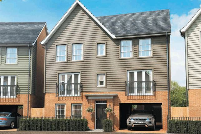 "Thumbnail Detached house for sale in ""Taunton"" at Fen Street, Brooklands, Milton Keynes"