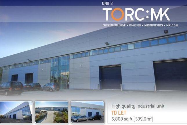 Thumbnail Light industrial to let in Unit 3 Torc:Mk, Chippenham Drive, Kingston, Milton Keynes