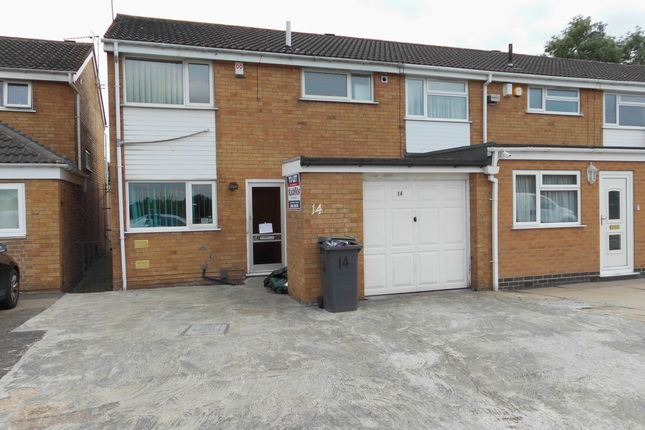 Thumbnail Semi-detached house to rent in Alderton Close, Leicester