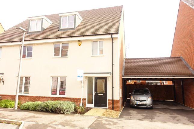 Thumbnail Semi-detached house to rent in Alderney Avenue, Newton Leys, Milton Keynes