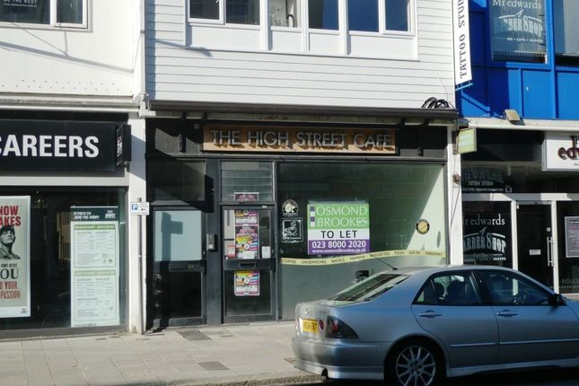 Thumbnail Retail premises to let in 153 High Street, Southampton
