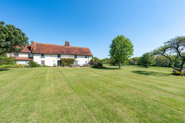 Thumbnail Farmhouse for sale in The Vale Farm House, Ipswich Road, Harkstead