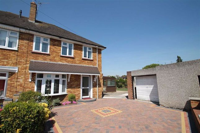 Thumbnail Semi-detached house for sale in Nine Elms Close, Cowley, Middlesex