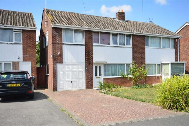 Thumbnail Semi-detached house for sale in Barnacre Drive, Hucclecote, Gloucester