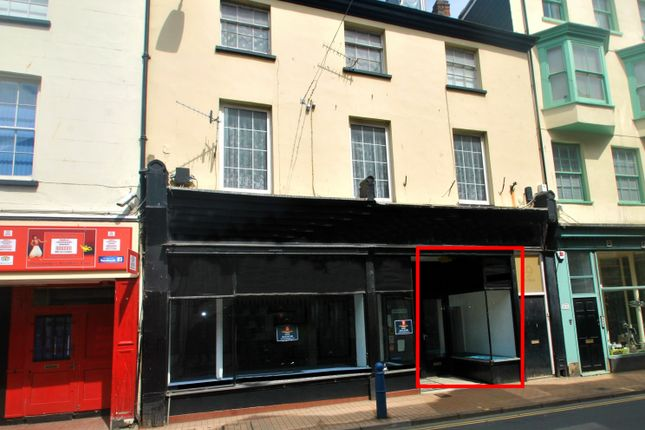 Retail premises to let in High Street, Ilfracombe