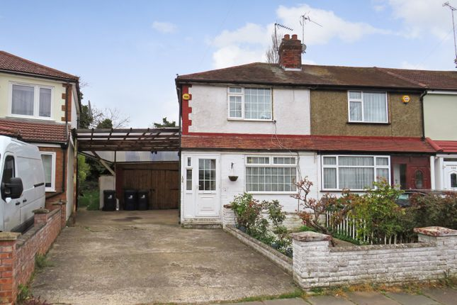 Thumbnail End terrace house for sale in Empire Road, Perivale, Greenford
