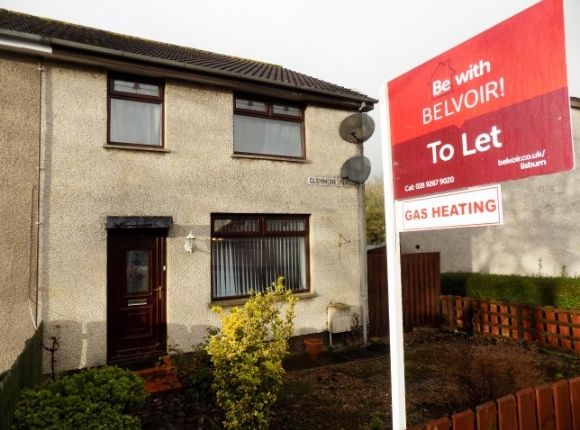 Thumbnail End terrace house to rent in Glenmore Park, Lisburn