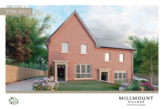 Semi-detached house for sale in Millmount Village, Comber Road, Dundonald