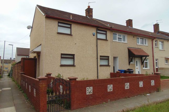Thumbnail End terrace house to rent in Franton Walk, Kirkby, Liverpool