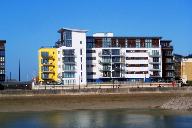 Thumbnail 2 bed flat to rent in Centauri Court, Midway Quay, Sovereign Harbour North, Eastbourne