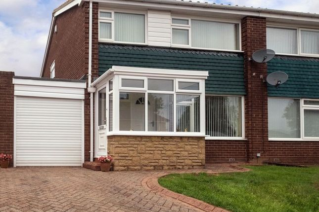 Thumbnail Semi-detached house for sale in Kenmoor Way, Chapel Park, Newcastle Upon Tyne