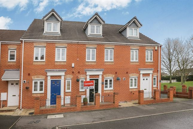 Thumbnail Town house for sale in Ellards Drive, Wednesfield, Wolverhampton