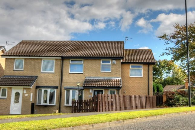 Thumbnail Semi-detached house for sale in Hickling Court, Meadow Rise, Newcastle Upon Tyne