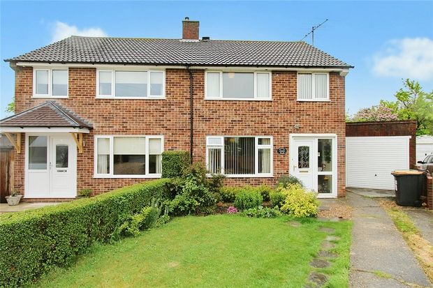 Thumbnail Semi-detached house for sale in Gilwell Close, Bedford