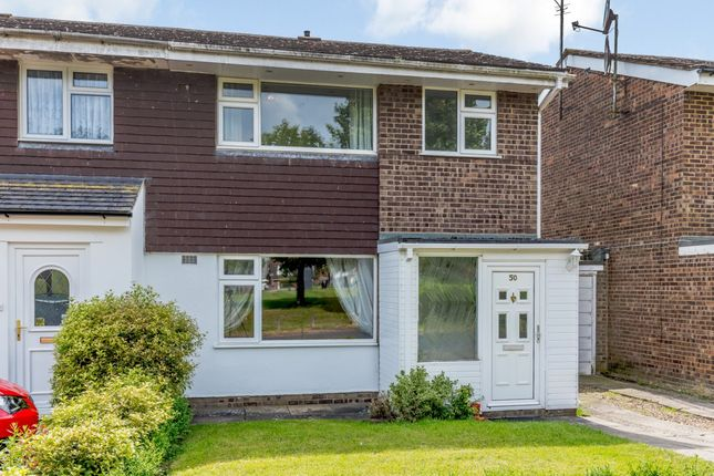 Thumbnail Semi-detached house for sale in Grenidge Way, Bedford, Bedford