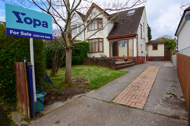 Thumbnail Semi-detached house for sale in Grange Crescent, West Cross, Swansea