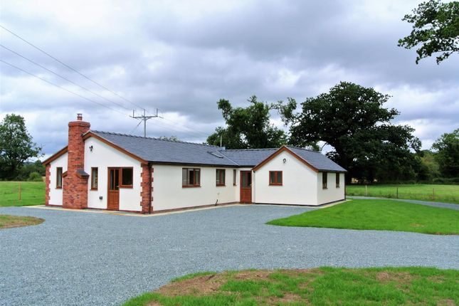 Thumbnail Detached bungalow to rent in Trederwen Lane, Arddleen, Llanymynech