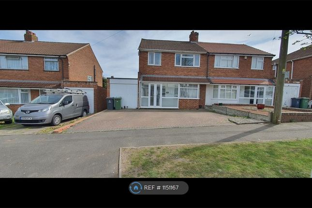 Thumbnail Semi-detached house to rent in Cherrywood Road, Sutton Coldfield