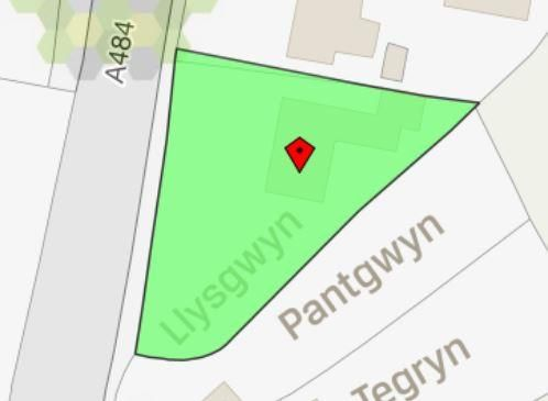 Boundary Plan of Saron, Llandysul SA44