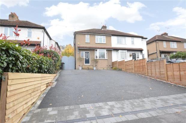 Thumbnail Semi-detached house for sale in Boundary Road, Wooburn Green, Buckinghamshire
