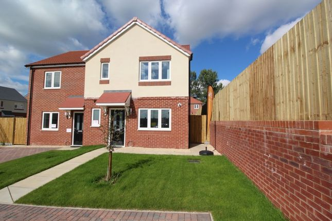 Thumbnail Semi-detached house for sale in Kingfisher Close, Cherry Willingham, Lincoln