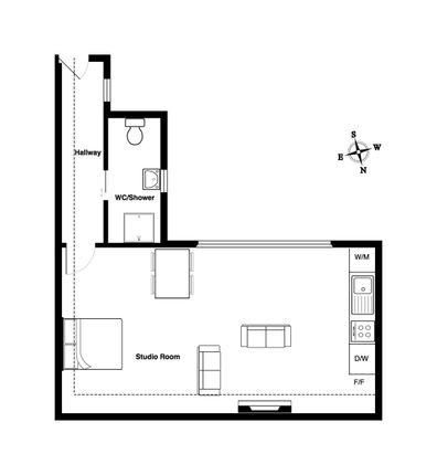 Floor Plan of Chase Side, London N14