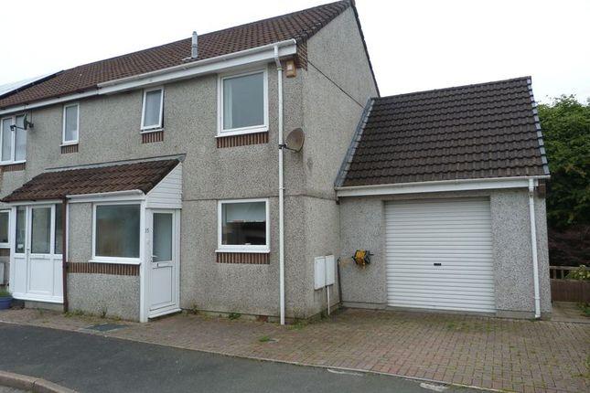 Thumbnail End terrace house to rent in Herring Close, Liskeard
