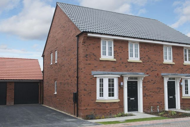 """Thumbnail End terrace house for sale in """"Oakfield"""" at Mount Street, Barrowby Road, Grantham"""