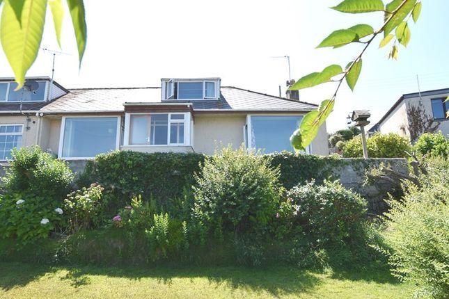 Thumbnail Semi-detached bungalow for sale in Trevalga Close, Perranporth