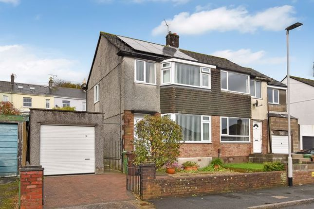 Thumbnail 3 bed semi-detached house for sale in Priory Drive, Plympton, Plymouth