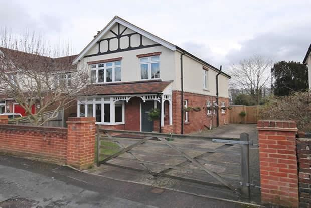 Thumbnail Detached house for sale in Manor Road, Farnborough