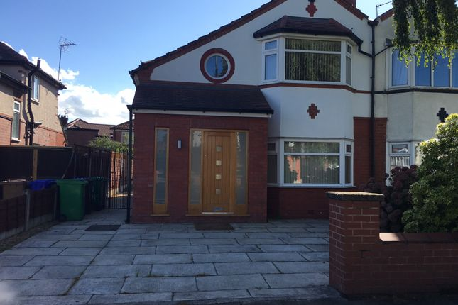 Thumbnail Semi-detached house to rent in Dene Road, Manchester