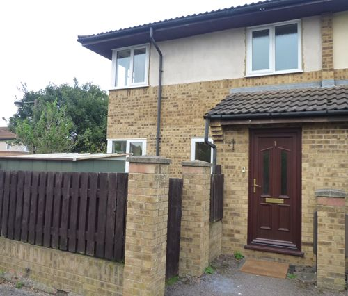 Thumbnail 2 bed terraced house to rent in Hepleswell, Two Mile Ash, Milton Keynes