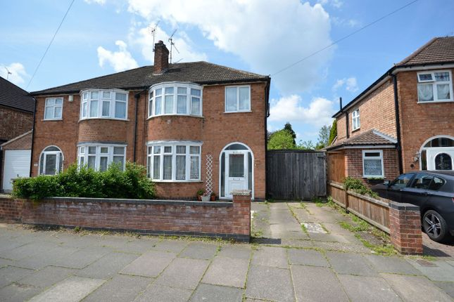 Thumbnail 3 bed semi-detached house for sale in Lamborne Road, West Knighton, Leicester