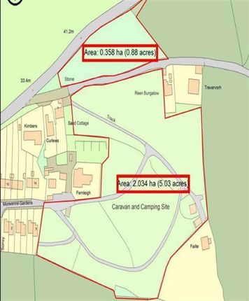Thumbnail Commercial property for sale in Land For Sale, Budnic Estate, Perranporth