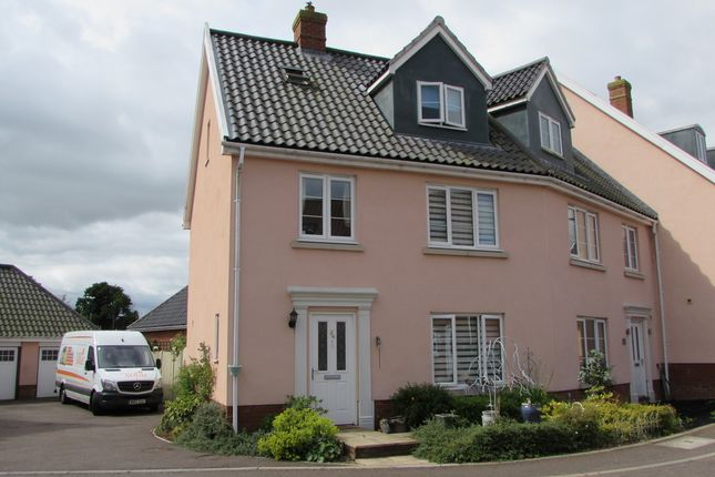 Thumbnail End terrace house for sale in Crown Meadow, Kenninghall, Norwich