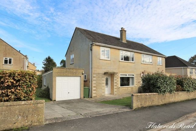 Thumbnail Semi-detached house for sale in Flatwoods Road, Claverton Down, Bath