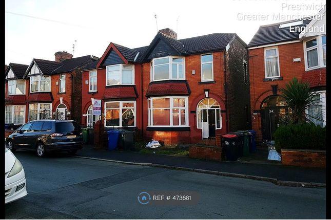 Thumbnail Semi-detached house to rent in Richmond Avenue, Prestwich, Manchester