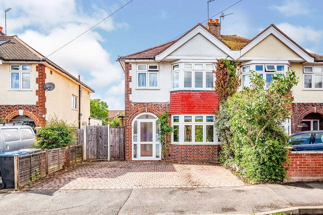 Thumbnail Semi-detached house for sale in Rusham Park Avenue, Egham
