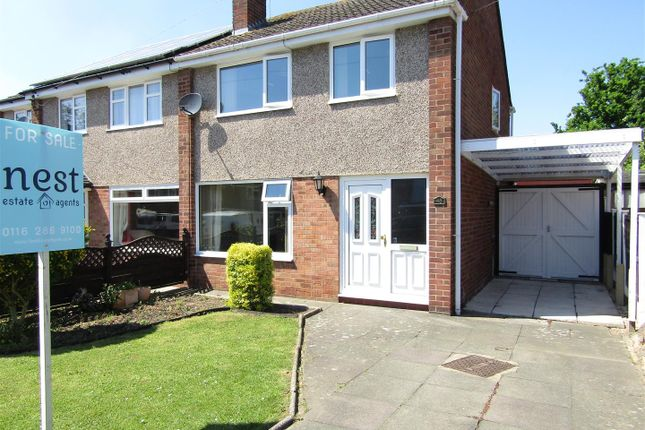 Thumbnail Semi-detached house for sale in Coleridge Drive, Enderby, Leicester