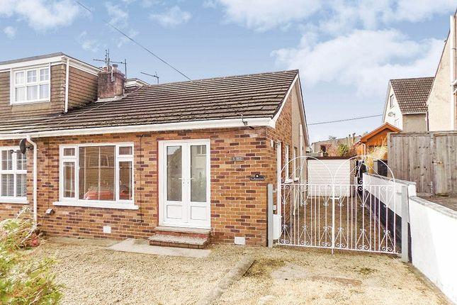 Thumbnail Semi-detached bungalow for sale in Caer Efail, Pencoed, Bridgend .